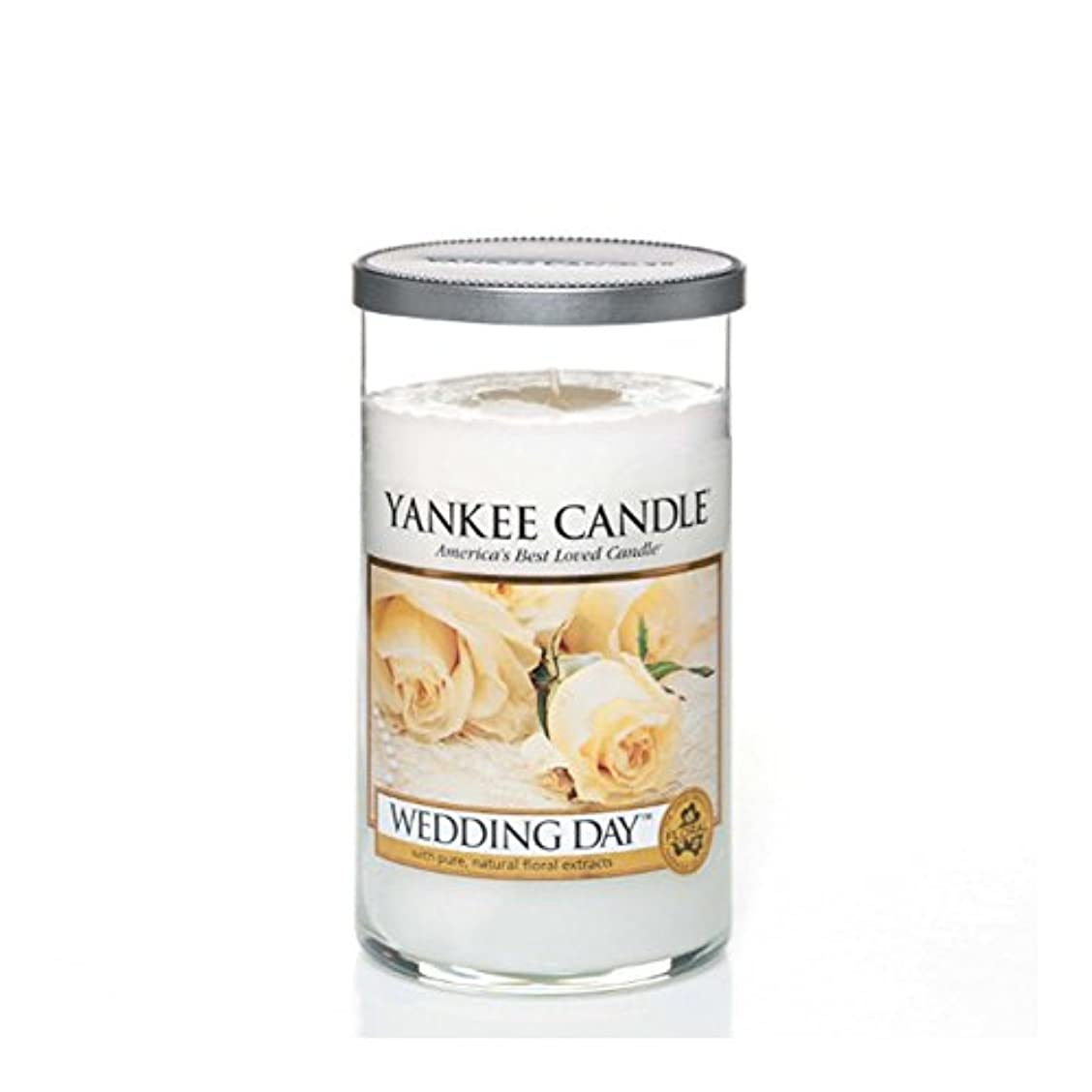 コンプライアンス樫の木後ヤンキーキャンドルメディアピラーキャンドル - 結婚式の日 - Yankee Candles Medium Pillar Candle - Wedding Day (Yankee Candles) [並行輸入品]