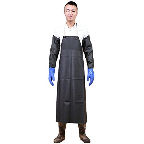 YuanDian Herren Damen Erwachsene Wasserdichte Schürzen PVC Lange Antifouling Wasserdicht Umweltschutz Atmungsaktive Arbeit Schürzen Armee