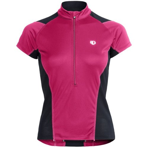PEARL IZUMI Women's Veer Jersey, Pink Punch, Large