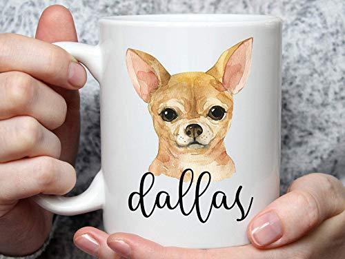 Taza personalizada Taza de Chihuahua - Taza de café de Chihuahua - Regalos de Chihuahua - Regalos de papá de Chihuahua - Taza de papá de Chihuahua - Taza de perro personalizada - Taza de mamá de Chihu
