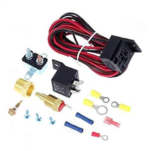 AAGOOD-175-185 Grad Elektro-Lüfter Thermostat Kit Temperatursensor Temperaturschalter 40 50 60 Ampere KIT Relais