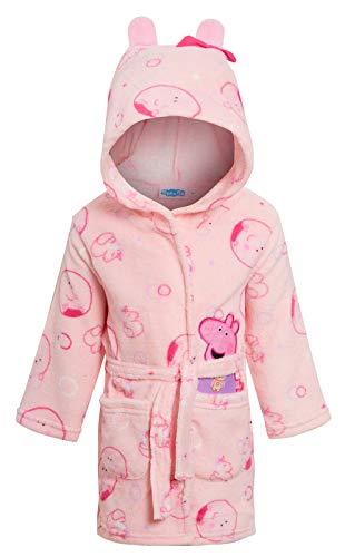 Peppa Pig Bata de baño con capucha 3D para niñas