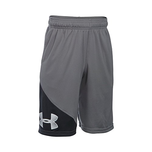 Under Armour Boys' Tech Shorts, Graphite /Graphite, Youth Medium