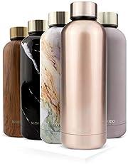 MAMEIDO drinkfles edelstaal - 500 & 750 ml thermosfles - lekvrij, BPA-vrij - geïsoleerde waterfles, dubbelwandige, slanke & lichte thermoskan