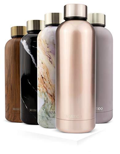 MAMEIDO Trinkflasche Edelstahl - Rosegold - 500ml,0,5lThermosflasche - auslaufsicher, BPA frei -schlankeisolierte Wasserflasche,leichtedoppelwandige Isolierflasche