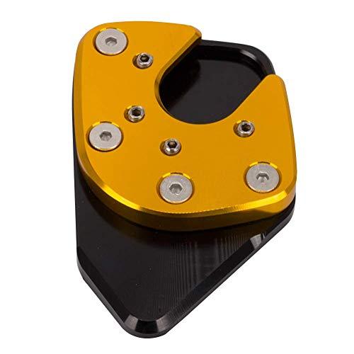 POHOVE Motorrad Seitenständer Pad, Universal Aluminium Legierung Anti-korrosion Antirutsch Seitenständer Pad - Gold, Free Size