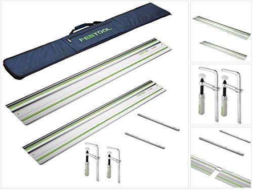 Festool Führungsschiene +Tasche - Set 2 Schienen - 2 FS-Verbinder - 2 Zwingen