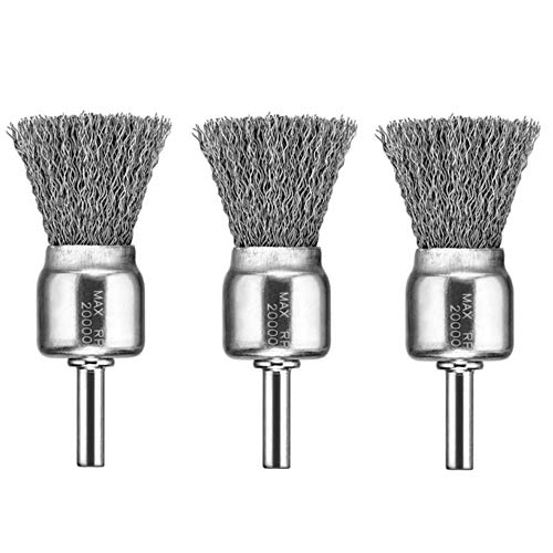 DEWALT DW4901 1-Inch Crimped End Wire Brush, 3 Pack