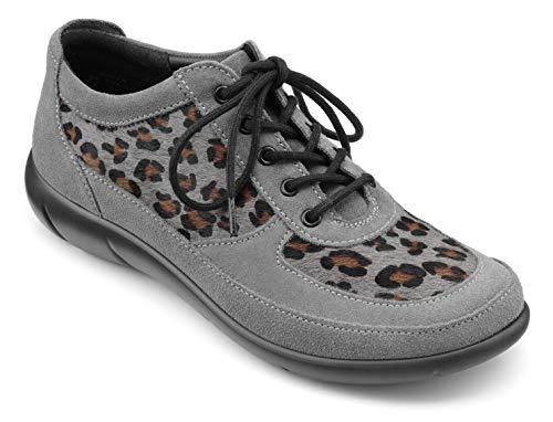 Hotter Raven Zapatos de Cordones Extra Anchos para Mujer, Color Gris, Talla 42 EU