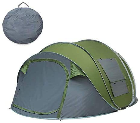 RJJBYY Automatic Pop-up Camping Tent, Portable Instant Cabana Tent for 2-3 People Waterproof & Sun Shelter Protection Ventilated Durable