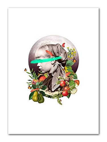 wuzhaodi Posters Abstract Animal Plant Illustratie Landschap Noordse Poster En Print Muur Kunst Print Canvas Schilderij Afbeelding 50X70CM A
