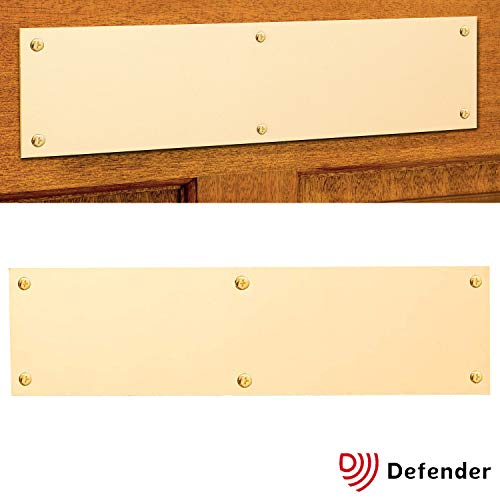Carta de relleno latón placa–robusto, screw-shut cobertura de seguridad para buzón–Regular (300x 75mm)