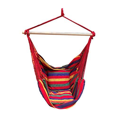 Fusmaker Hangstoel Grote Hangstoel Relax Hangende schommelstoel Katoen Weave voor Superieur Comfort & Duurzaamheid Perfect voor binnen- en buitenshuis