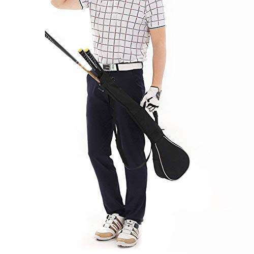 Golf Sunday Bag,Can Hold 3 Golf Clubs,Foldable Golf Driving Range Travel Case Golf Club Bag Mini for Men Women Kids.