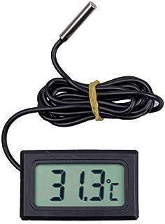 LCD Display Digital Frigorífico Frigorífico Freezer Termômetro de temperatura 50 abaixo para 110C (preto)