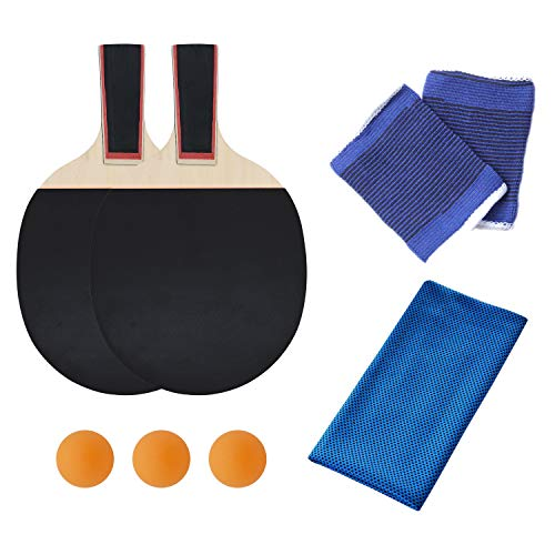 Review KINDOYO Pen-Hold Grips - Table Tennis Bats Racket Set with 3 Balls for Beginner