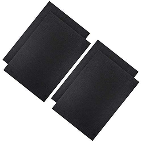 Healifty 4 Stück Aida Kreuzstich Stoff Schwarz Stickstoff Material für Handwerk 45 X 30 cm