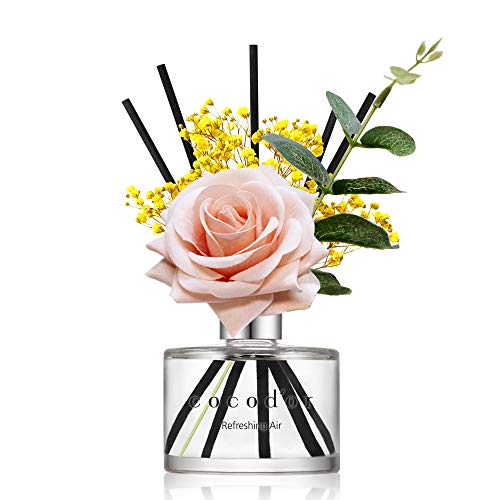 Cocodor Rose Flower Reed Diffuser/Refreshing Air/6.7oz(200ml)/1 Pack/Reed Diffuser, Reed Diffuser Set, Oil Diffuser & Reed Diffuser Sticks, Home Decor & Office Decor, Fragrance and Gifts