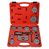 BTSHUB Professional 12pcs Front and Rear Caliper Disc Brake Screw-in Wind Back Rewind and Piston Compression Tool Kit for Brake Pad Replacement