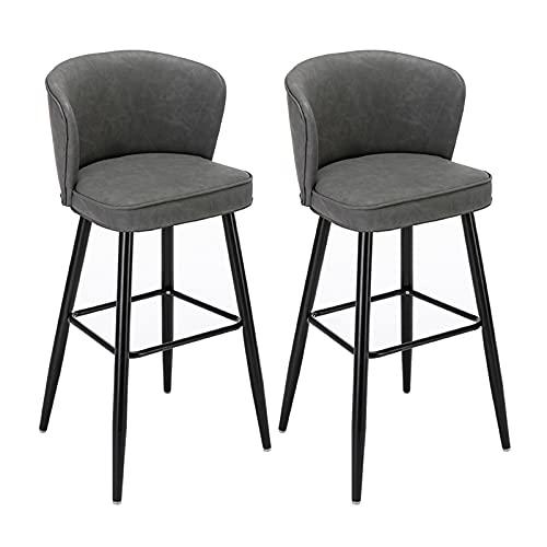 Taburetes Altos de Cocina Juego de 2 sillas de Bar con Altura...