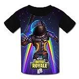 Fort-Night Rainbow Fly Dark Voyager Kids T-Shirt, confortevole 3D Graphic Tee Ragazzi Ragazze Manica Corta Top
