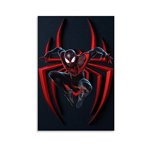 Ghychk Lienzo decorativo para pared con diseño de Spider-Man Web Heroes listo para colgar (20 x 30 cm)