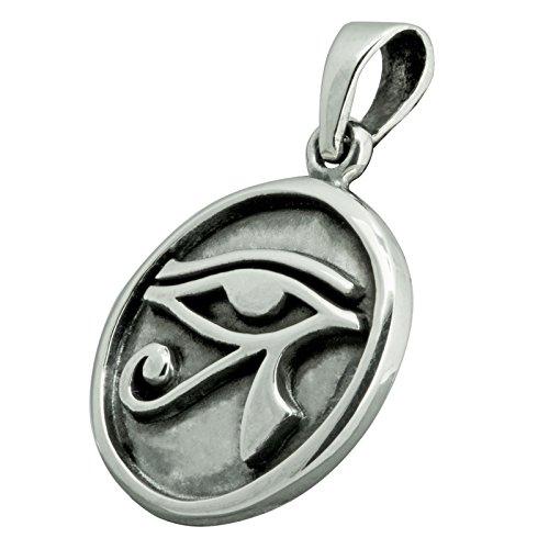 Beldiamo Pendentif œil dHorus Ra égyptien en argent sterling