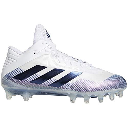 adidas Men's Freak Carbon Football Shoe, White/Team Navy Blue/White, 13