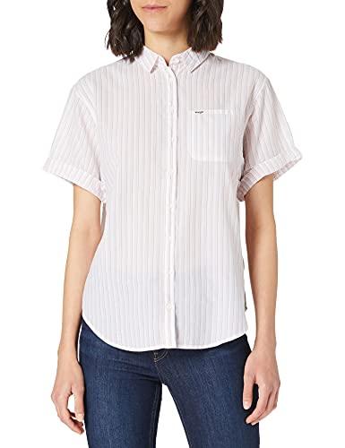 Wrangler Summer Shirt Camisa, Rosa (Lavendar Haze P14), M para Mujer