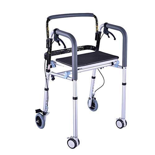 Andadores de ruedas estándar Andador de cuatro ruedas Walker Walker/Walker Soporte/ancianos discapacitados Marco hombre Walker Fractura Polea con freno de mano Get Up andadores andadores ancianos
