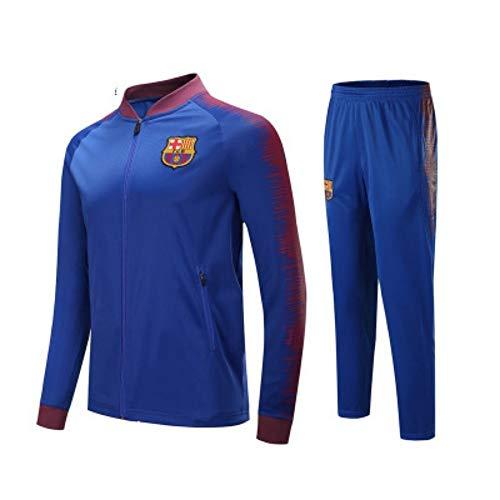 XunZhiYuan Club Langarm Trikot Fußball Anzug Anzug Teamspiel Wettbewerb Full Zipper Trainingsanzug, S, 3