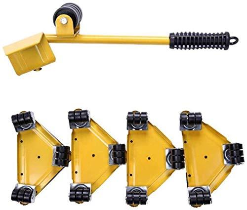 TXOZ-Q 5 Piezas de Muebles móviles Grupo de Rodillos con 1 de elevación Rod y 4 Muebles deslizamientos, Move Up 250 kg, fácil Movimiento de Muebles, Lavadora y Nevera