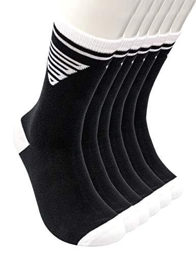 GORNATION® Calcetines calistenia con dibujos para hombres y mujeres con motivos coloridos para el crossfit y el fitness - Perfecto para el deporte y el ocio (Classic Black (3 pares), S/M)