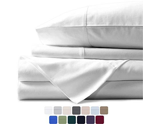 Mayfair - Juego de sábanas de Lino de 600 Hilos, 100% algodón Egipcio, Tejido de satén