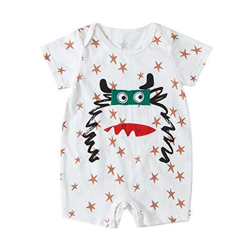 Julhold pasgeboren baby kinderen meisjes cartoon zuigeling zomer casual losse rompers outfits kleding 0-18 maanden