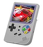 Anbernic Consolas de Juegos Portátil , RG300 Consola de Juegos Retro Game Console OpenDingux Tony System Built-in 3007 Juegos , 3.0 Pulgadas IPS Videojuegos Portátil - Gris