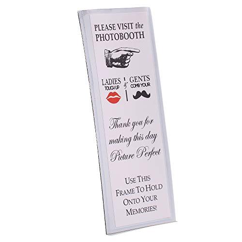 Photo Booth Frames Fotokabinenrahmen, magnetisch, für 5,1 x 15,2 cm, mit Einsatz, Metall, farblos, 200 Pack