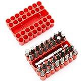 33 unids/set soporte de estrella hueco sólido varilla destornillador broca accesorio de herramienta destornillador juego de cabeza de acero-33 piezas sólido