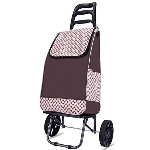 Opvouwbare trolley met grote en lichte boodschappentrolley, met afneembare tas, waterdicht, geschikt voor reizen van 2 ouden reizen.