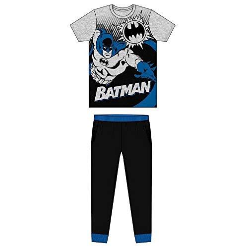 Herren-Pyjama-Set, Herren-Pyjama-Set, Herren-Pyjamahose, Loungewear in Fußball, Neuheit, Marvel oder Disney Designs Gr. S, Batman – Design 1 – Eingenähte Taschen.