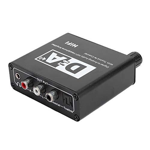 Convertidor Audio de Canal Dual,DAC Convertidor Audio Digital Analogico,Decodificador de Fibra Digital Coaxial a Audio Analógico,4.0 OD Cable Convertidor Audio Digital Universal de Double Canal