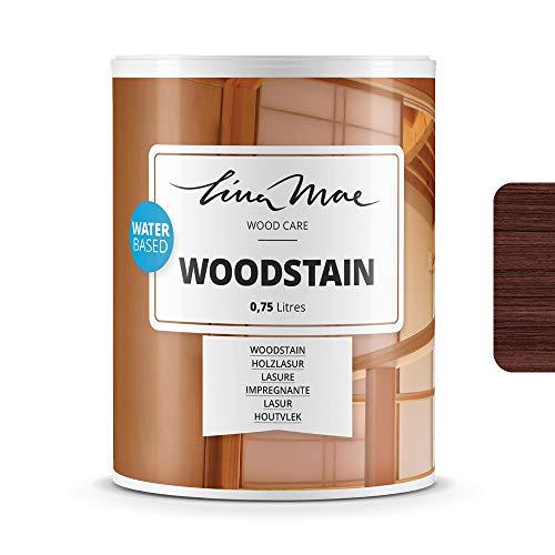 Holzlasur (Lack) mit Satinierung Oberfläche Wasserbasiertem - Offenporiger Protektor für Dekorieren und Schützt Frischholz und Altholz Ideal für Stühle, Türen und Tische (750 ml, Wenge)