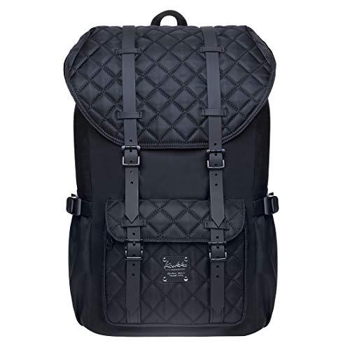 KAUKKO Rucksack Damen Herren Schön und Durchdacht Daypack mit Laptopfach für 14 Zoll Notebook für Schule, Uni, 20L