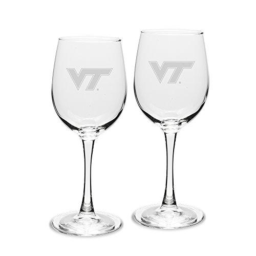 University Glass NCAA Virginia Tech Hokies Weißweingläser, für Erwachsene, 20 Stück, 340 ml, tiefgeätzt, Einheitsgröße, transparent