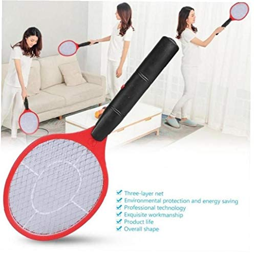 Elettrico della zanzara Insetti Swatter Insetti Cordless Racket Bug Zapper Trappola Killer Colore Casuale