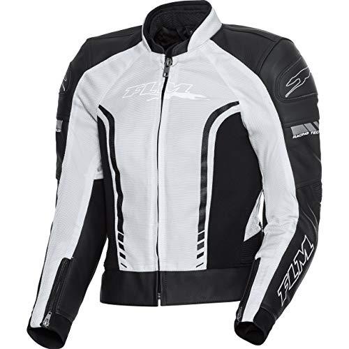 FLM Motorradjacke mit Protektoren Motorrad Jacke Sports Damen Ledertextiljacke 1.0 schwarz/grau 38, Sportler, Ganzjährig