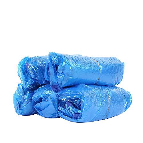 【在庫処分セール】CleverCare_JP アームスリーブ 使い捨て 100枚 アームカバー 腕カバー 保護スリーブ プラスチック製 キッチン クッキング用 防水 汚れ防止 調理 台所 掃除 (ブルー)