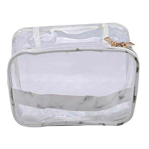 LoveAloe Pvc Make Up Organizer Cosmetic Bag Purse Grande Capacité Portable Bucket Travel New Women'S Storage Bag Printing, White