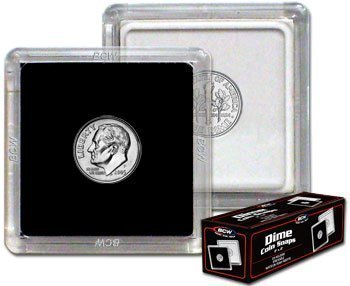 BCW 2×2 Coin Snap Dime Holder – 25 ct
