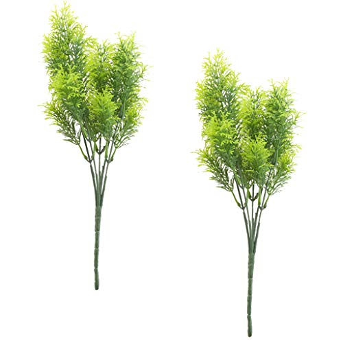 joyMerit 2Pcs Artificial Cedar Pine Branches Plastic Shrubs Faux Greenery Bushes Bundles Table Centerpieces Arrangement